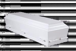 Hvid med fladt låg – Begravelse