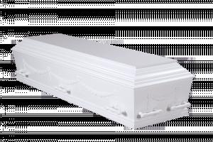 Hvid med guirlander – Begravelse